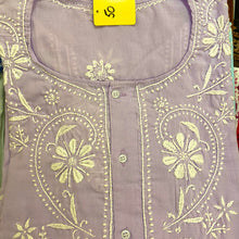 AR 3 Button Embroidered Cotton Tunic Kurti - Vintage India NYC