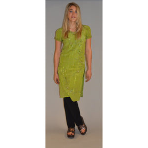 Lime green tunic dress