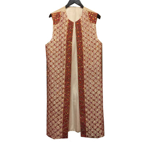 Vintage Embroidered Long Vest - Vintage India NYC