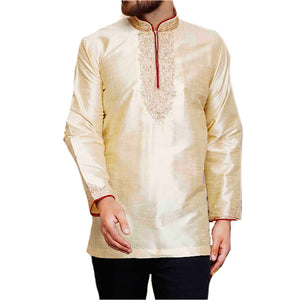 MJ Cream Short Kurta