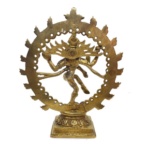 GM Brass Nataraja 7 in - Vintage India NYC