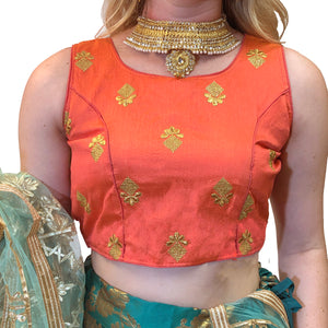 IE Gold Buti Choli Blouse - Vintage India NYC
