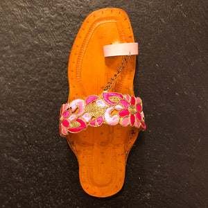 RP Handmade Indian Sandal-Pink - Vintage India NYC