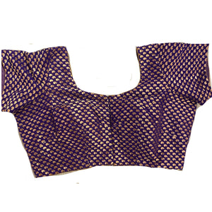 Purple Banarsi Choli Blouse - Vintage India NYC