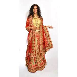 Red and Gold Wedding Lehenga