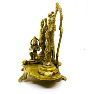 GM Brass Ram Dabar 6 inches - Vintage India NYC