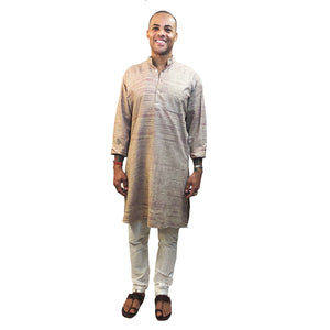 Handspun Raw Silk Kurta - Vintage India NYC