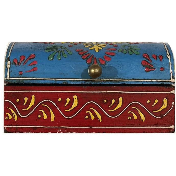AE Wooden Painted Box  45 - Vintage India NYC