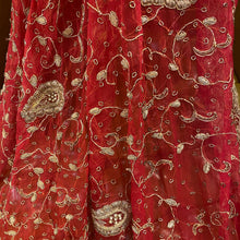 Vintage Red Bridal Dupatta 7471 - Vintage India NYC