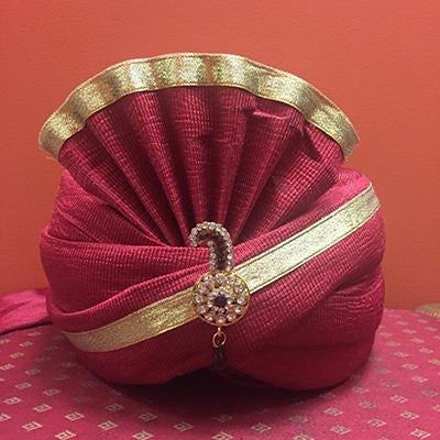 Red silk turban pagari