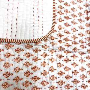 Blockprint Reversible Baby Blankets-3 Styles - Vintage India NYC