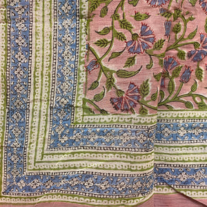 Block Print Sarongs/Scarves-Pastels - Vintage India NYC