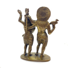 GM Brass Shiva Parvati 6 in. - Vintage India NYC