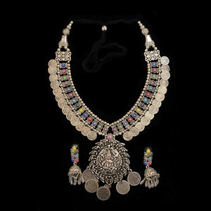 IF Silver Metal Necklace Set 204 - Vintage India NYC