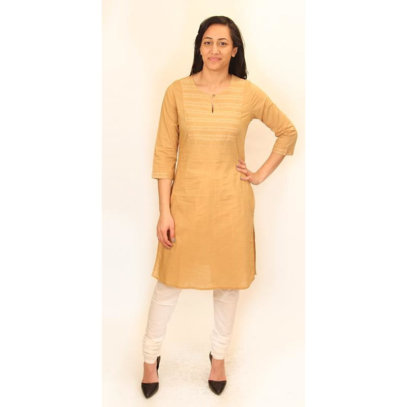 Tan Kurti - Vintage India NYC
