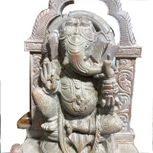 GM Soapstone Ganesh 6.5  in - Vintage India NYC
