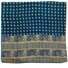 Silk Pillow Covers-Blues - Vintage India NYC