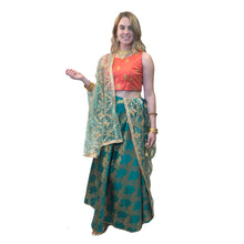 IE Floral Brocade Lehenga-4 colors - Vintage India NYC