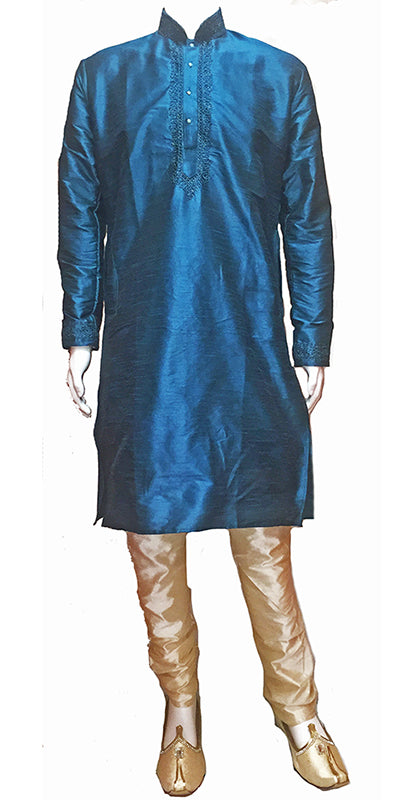 DC Big & Tall Silk Men kurtas Size 52-58 - Vintage India NYC