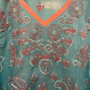 Chikan Kurtis-2 Colors - Vintage India NYC
