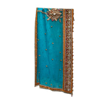 Vintage Heavy Work Dupatta Stole - Vintage India NYC