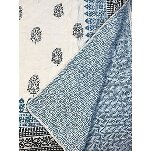 SOM Twin Blockprint Quilt - Vintage India NYC