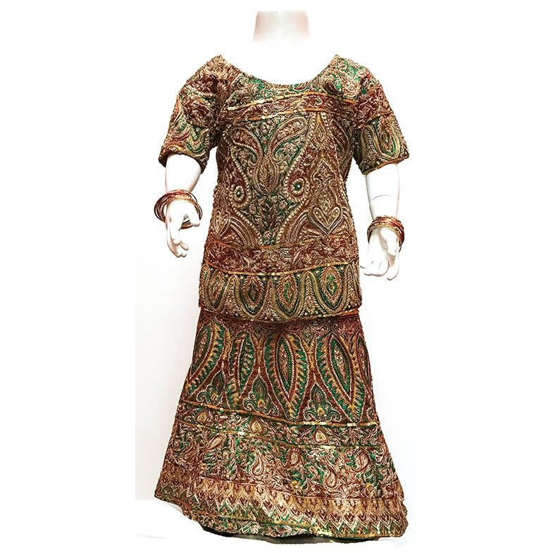Girls ornate lehenga set - Vintage India NYC