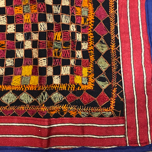 Vintage Embroidered Wallhanging-23 x 24 - Vintage India NYC
