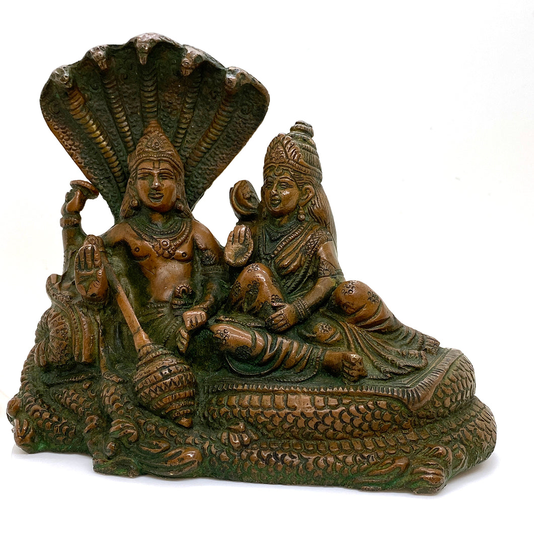 GM Brass Vishnu 6.5 x 7 in - Vintage India NYC