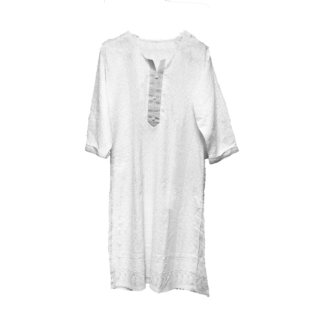 IE Plus Size White Kurta 2