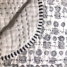 Blockprint Reversible Baby Blankets - Vintage India NYC