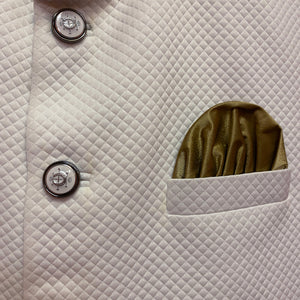 YD White Quilted Vest - Vintage India NYC