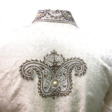 White and Silver Sherwani - Vintage India NYC