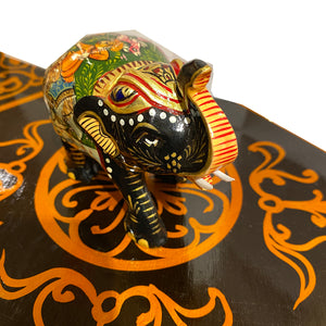 Painted Wooden Elephant - Vintage India NYC