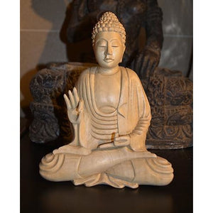 Handcarved wooden buddha