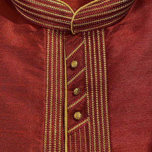 Maroon Kurta- Big & Tall - Vintage India NYC