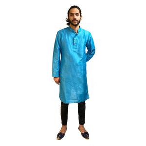 YD Formal Plain Kurtas-5 colors - Vintage India NYC