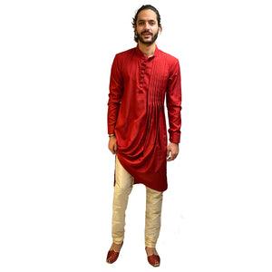 YD Asymmetric Kurta - Vintage India NYC