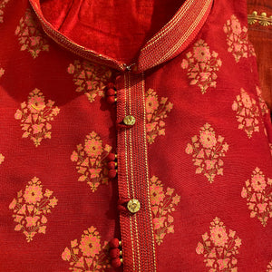 YD Red Floral Kurta 2