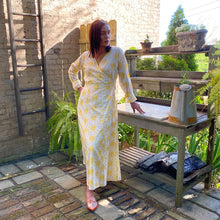 Cotton Blockprint Wrap Dress - Vintage India NYC