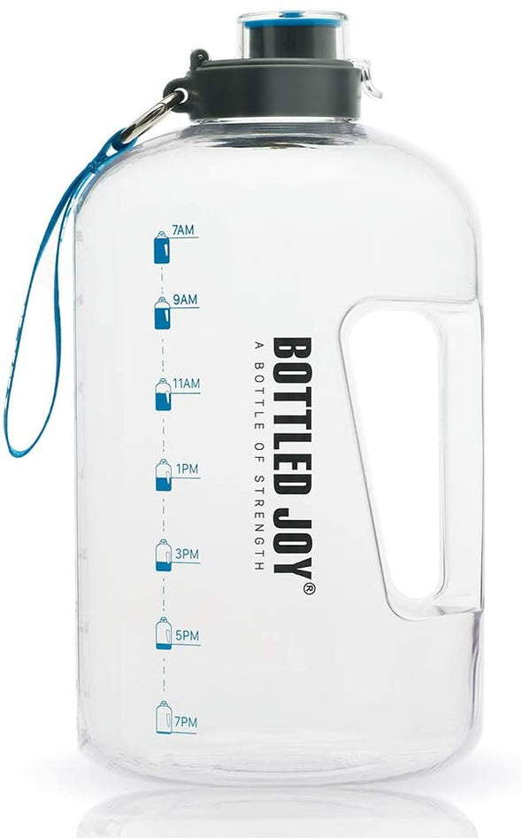 BOTTLED JOY 1 Gallon Water Bottle, Sports, Workouts, Outdoor, Drinking Water