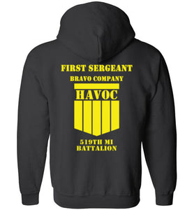 First Sergeant Zip-Up Hoodie