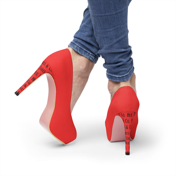 Red Women's Platform Heels Made By: Hue Jakes & Co.