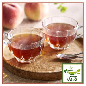 (AGF) Blendy Cafe Latory Peach Tea 7 Sticks (45.5 grams) Cups of peach tea stick brewed and served in cup