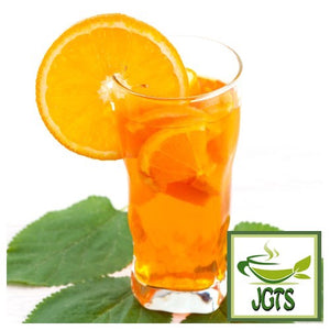 (AGF) Blendy Cafe Latory Rich Orange Tea 7 Sticks (45.5 grams) Brewed iced in glass