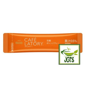 (AGF) Blendy Cafe Latory Rich Orange Tea 7 Sticks (45.5 grams) Individually wrapped stick