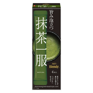 (AGF) Blendy Matcha Tea Without Milk 4 Sticks (30 grams)
