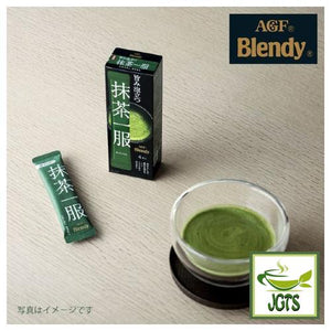 (AGF) Blendy Matcha Tea Without Milk 4 Sticks (30 grams) Matcha brewed Stick Package