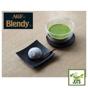 (AGF) Blendy Matcha Tea Without Milk 4 Sticks (30 grams) Matcha served with Japanese Sweets