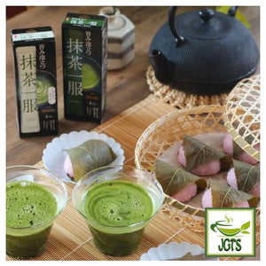 (AGF) Blendy Matcha Tea Without Milk 4 Sticks (30 grams) Matcha served with Japanese snacks